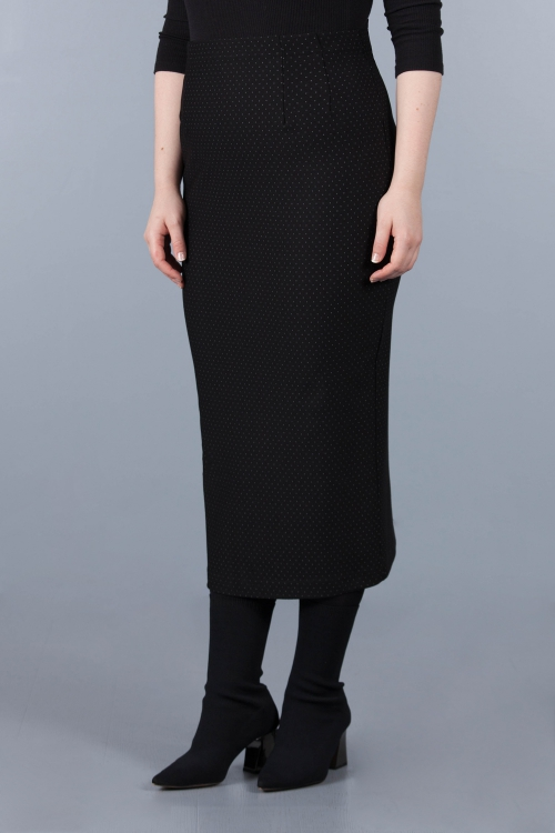 Lined voile skirt - Black