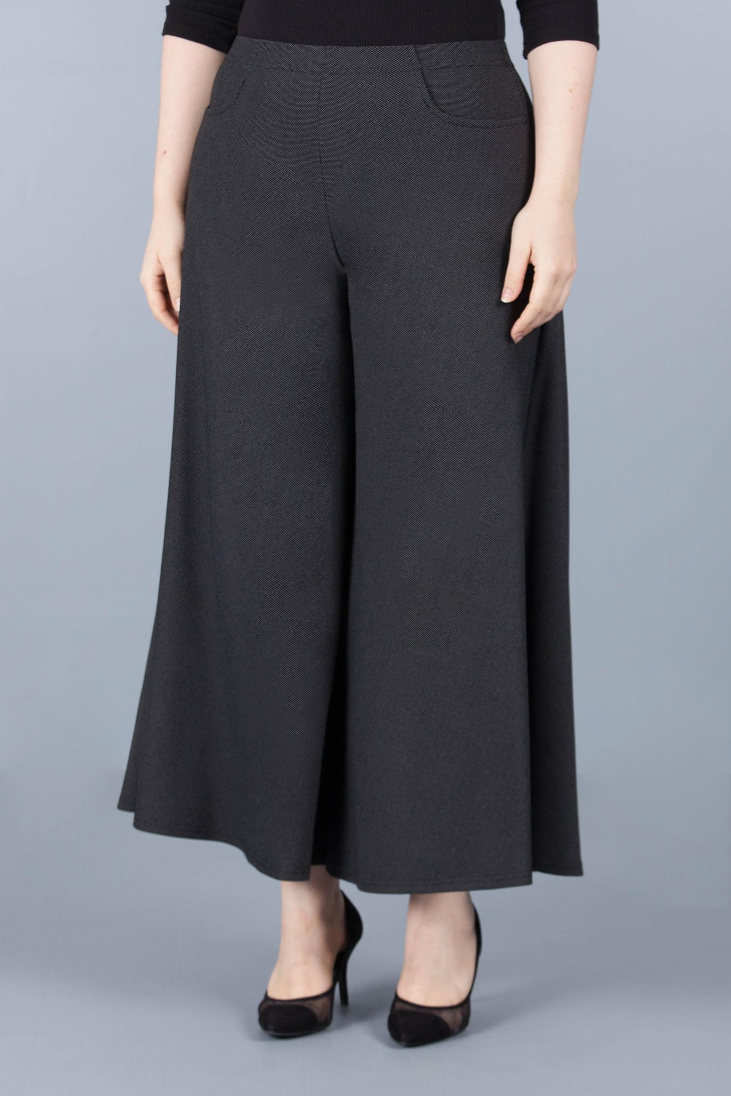 Pantalon jupe culotte - Noir