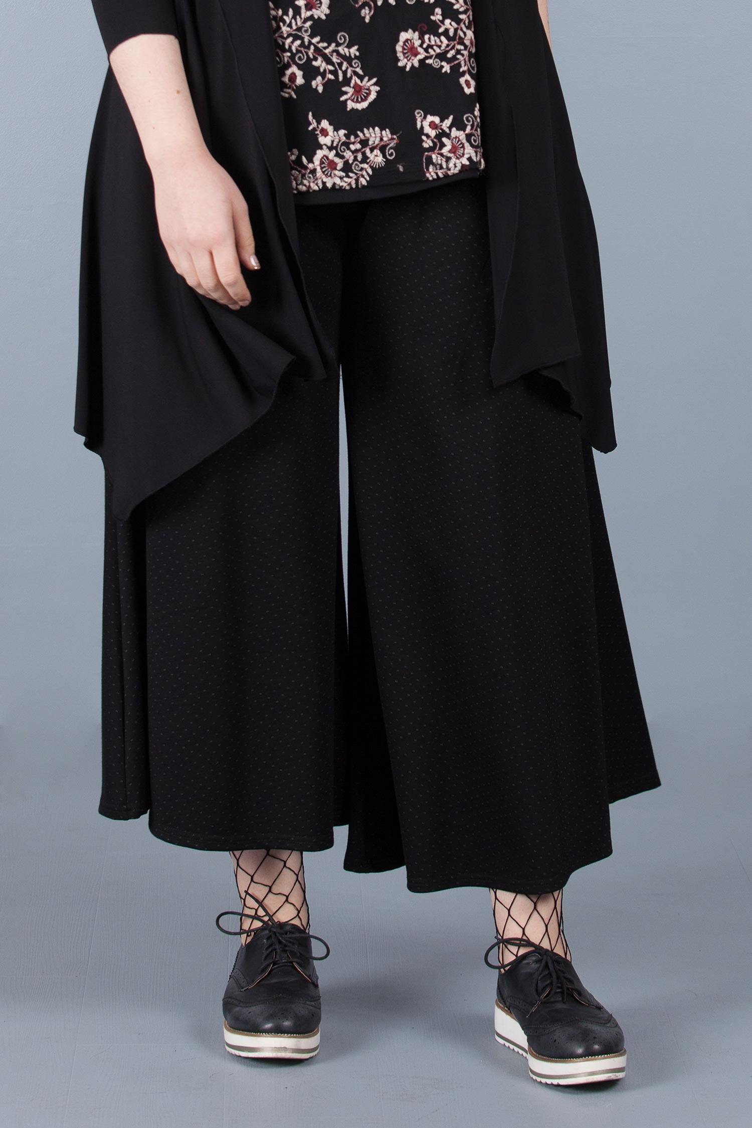 Jupe-culotte à pois - Noir pois