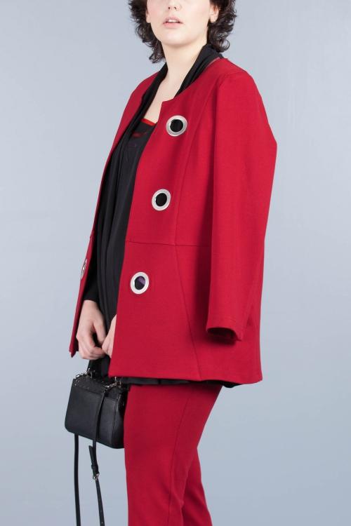 Veste à oeillets-Rouge