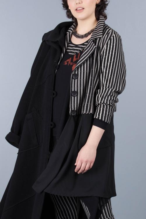 Veste jacquard - Noir raye