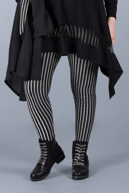 Pantalon caleçon - Noir rayé