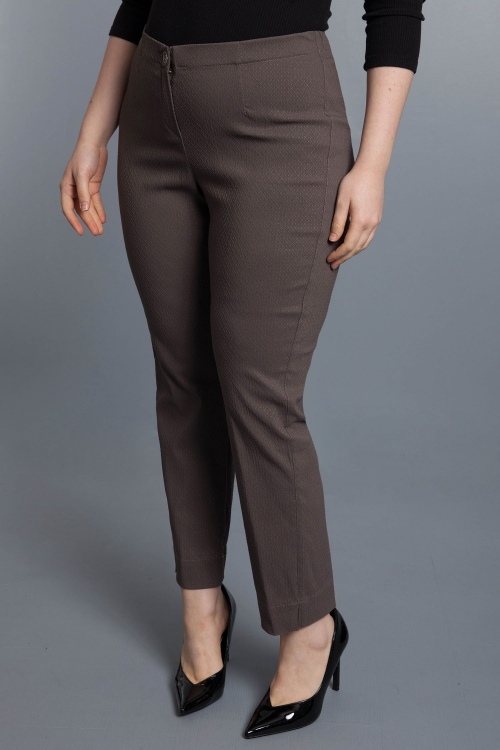 Pantalon gauffré - Taupe