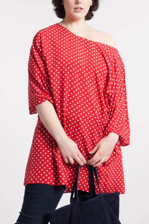 T shirt-Rouge/pois