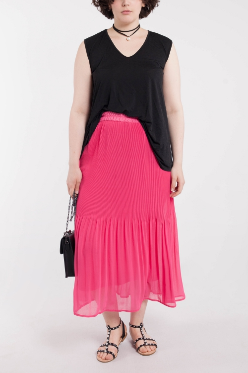 Supersposed Pleated Skirt - Navy
