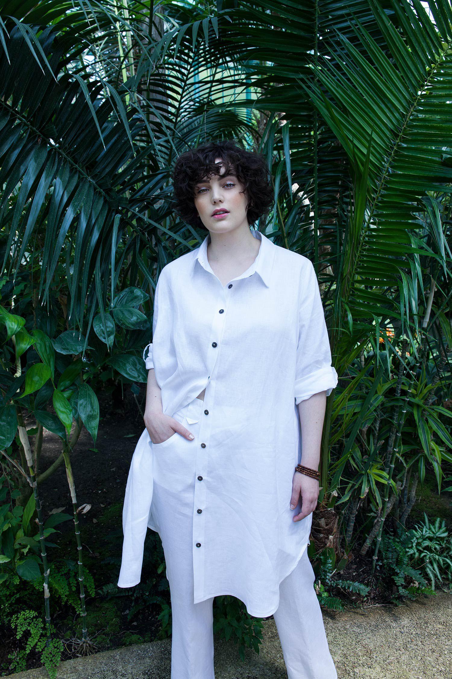 Robe chemise en lin