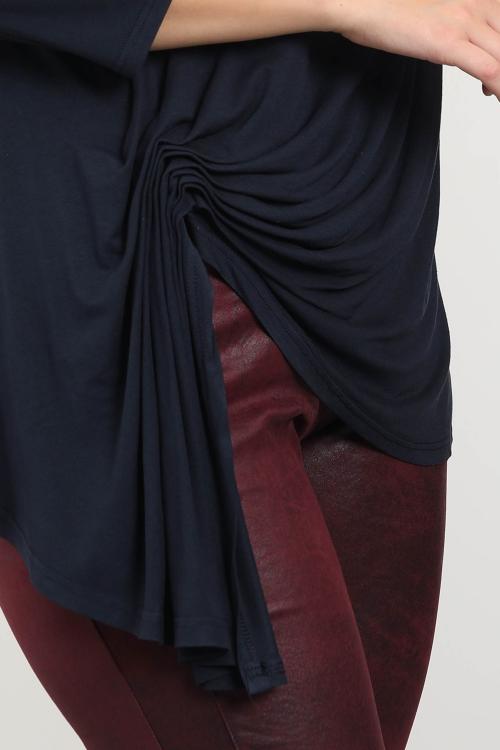 Top basique drapé