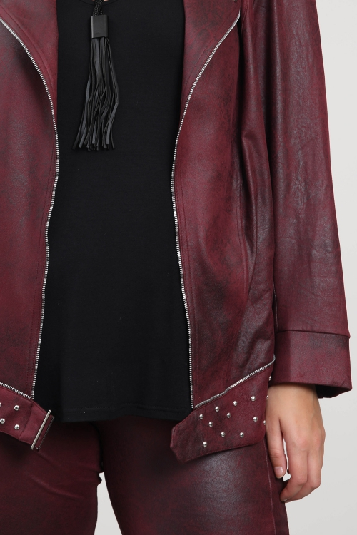 Studded biker jacket