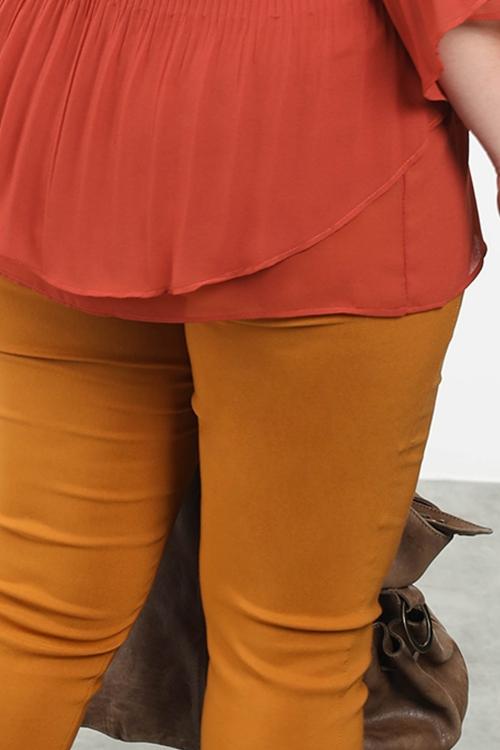 Pantalon sculptant droit