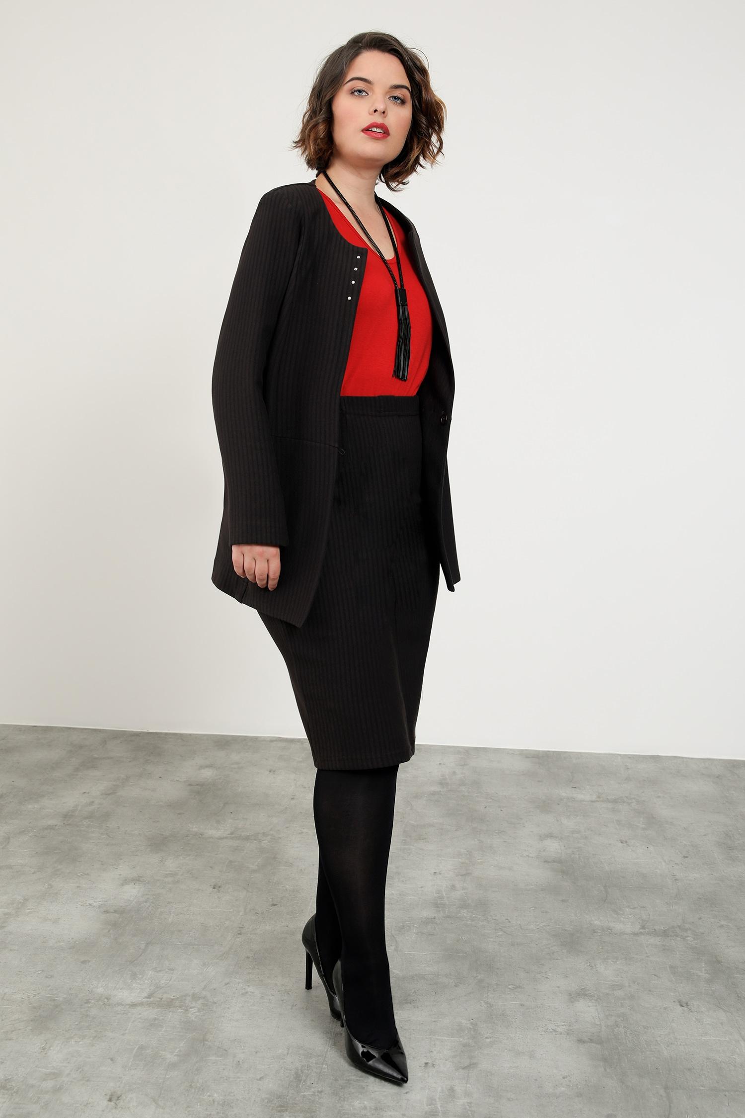 Stretch jacket with stripe Textra