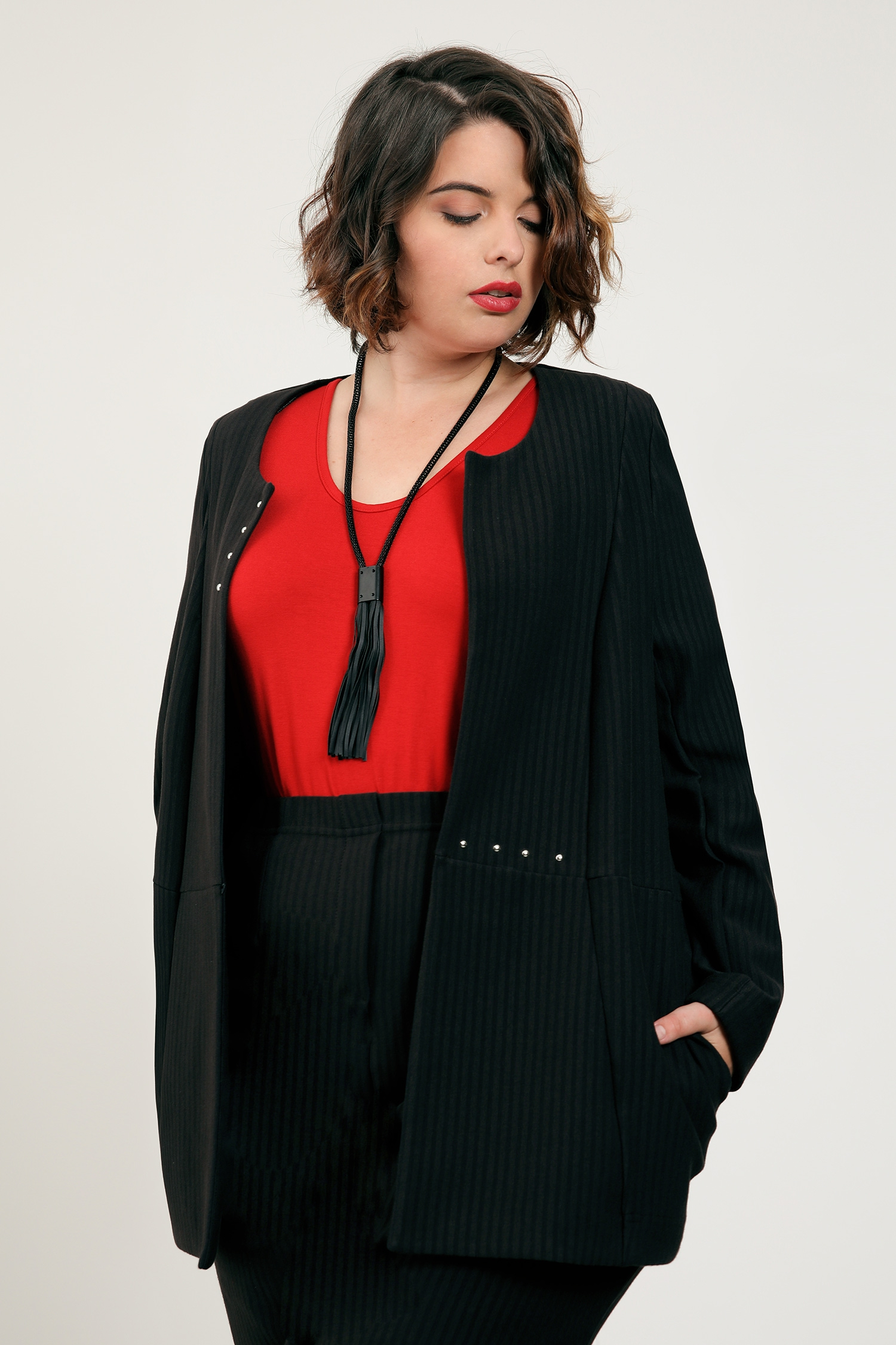 Textra striped stretch jacket