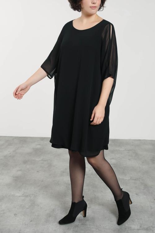 Robe doublée voile