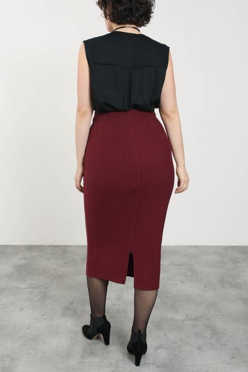 Long thin stripe skirt