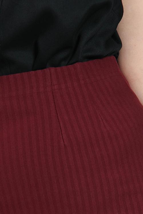 Jupe longue fine rayure Textra