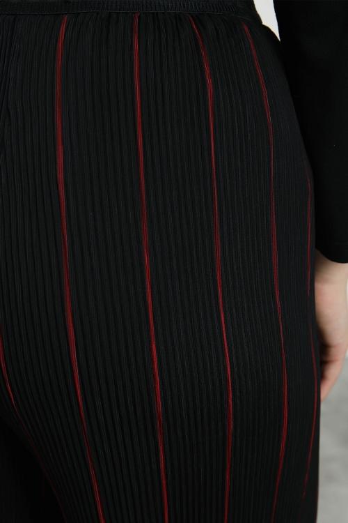 Jupe longue plissée en voile