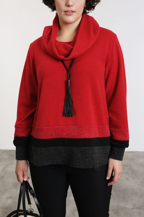 Pull tricolore en maille