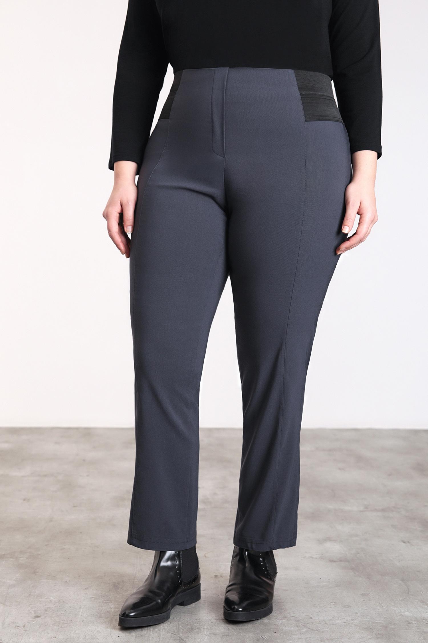 Pantalon droit bengaline avec bande taille