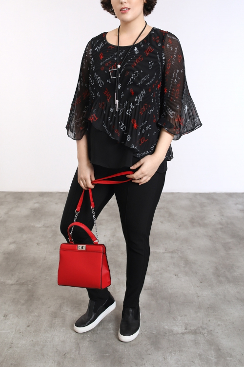 Ruffled doubled top