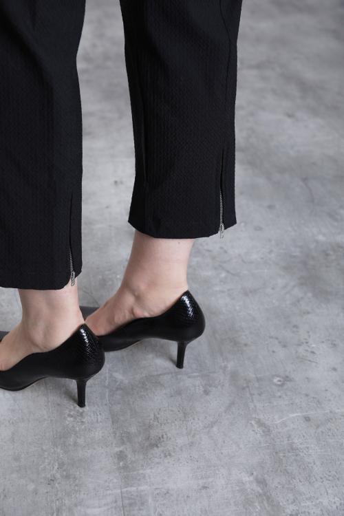Pantalon gaufré avec zip