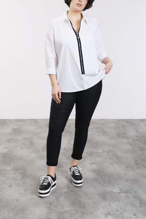 White zipped shirt