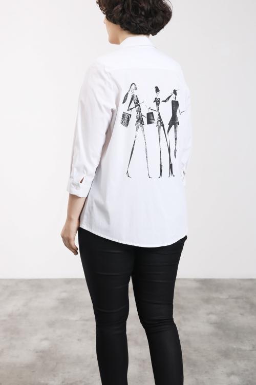 Chemise blanche zippée