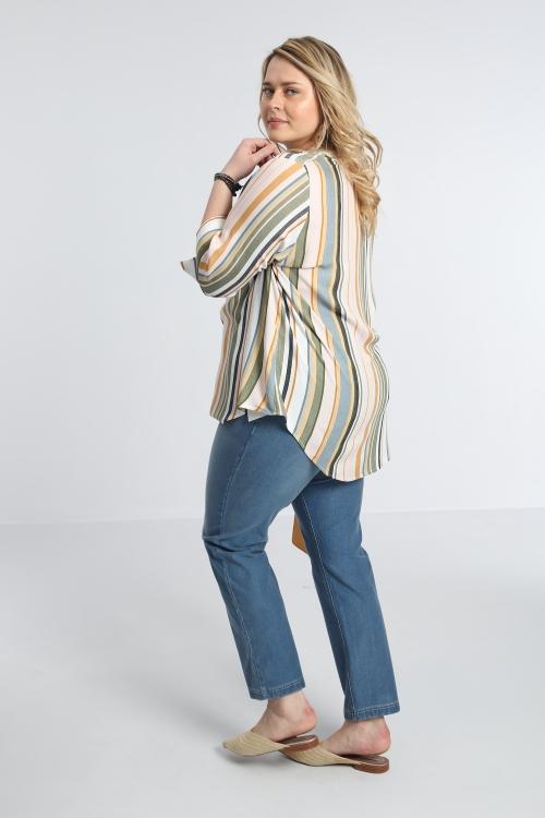 Chemise rayée avec col polo