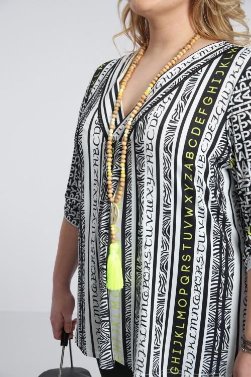 T shirt-Noir/lettre