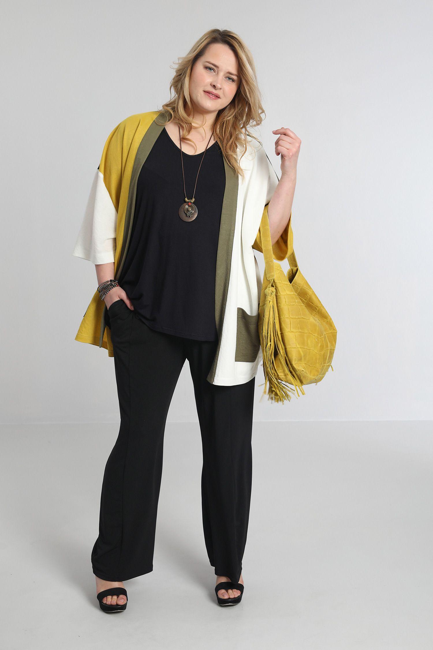 Tri-color kimono jacket