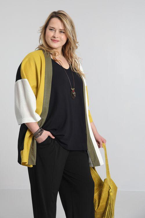 Veste kimono tricolore