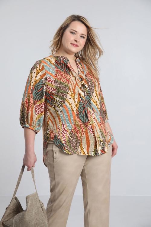 Shirt with jewel zip