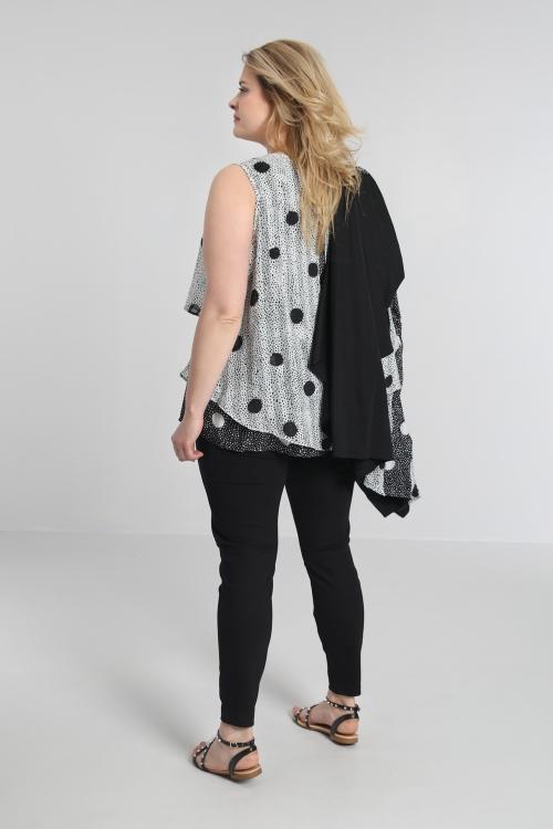 T shirt-Pois/noir/blanc