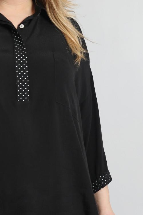 Chemise avec patte imprimée