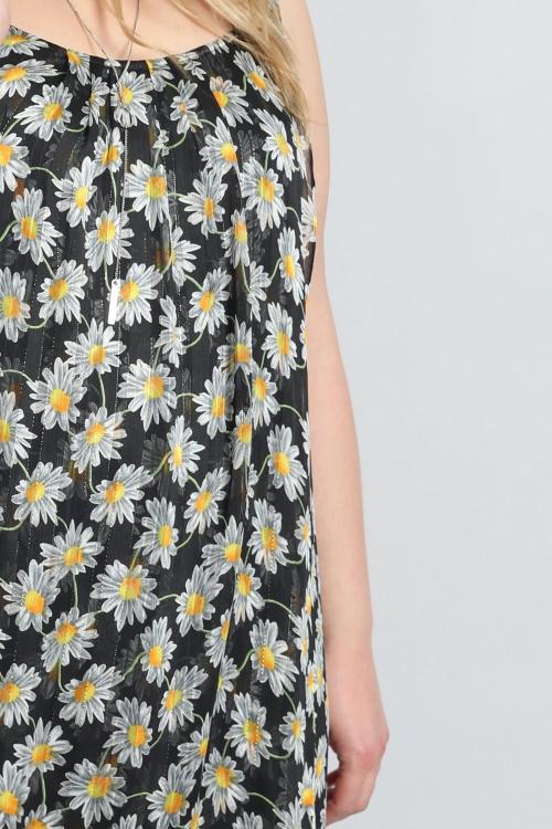 T shirt-Marguerite/noir