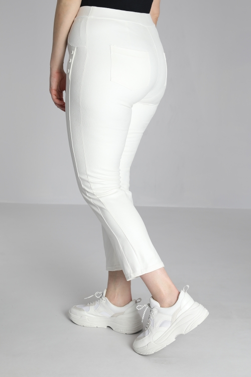 straight trousers imitation leather