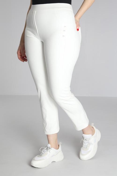 pantalon droit simili cuir