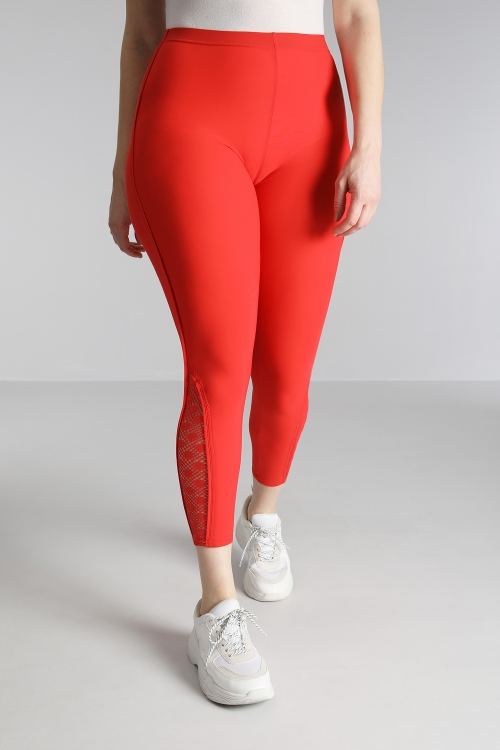 Lace yoke leggings