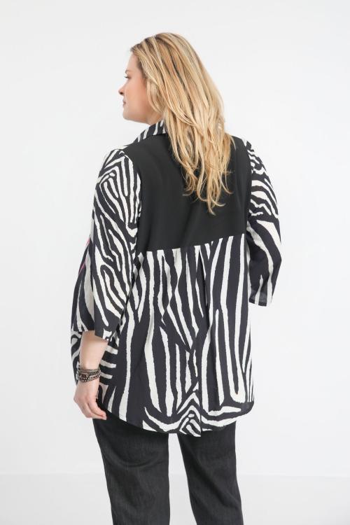 Straight shirt bi color