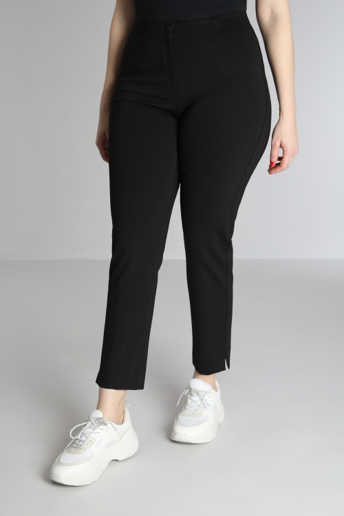 Straight stretch trousers