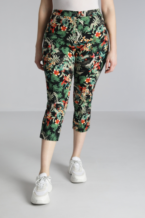 7/8 printed trousers