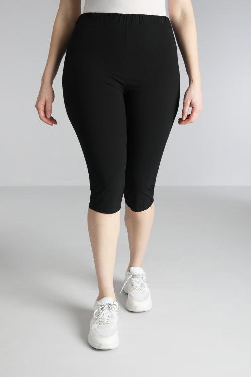 Cropped trousers / mesh cyclist