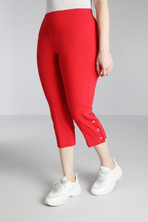 7/8 trousers with buttoned slit