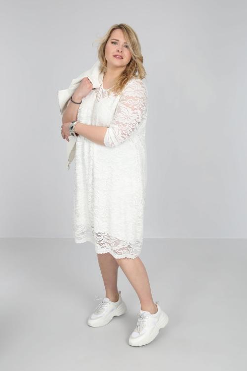 Robe dentelle-Ecru
