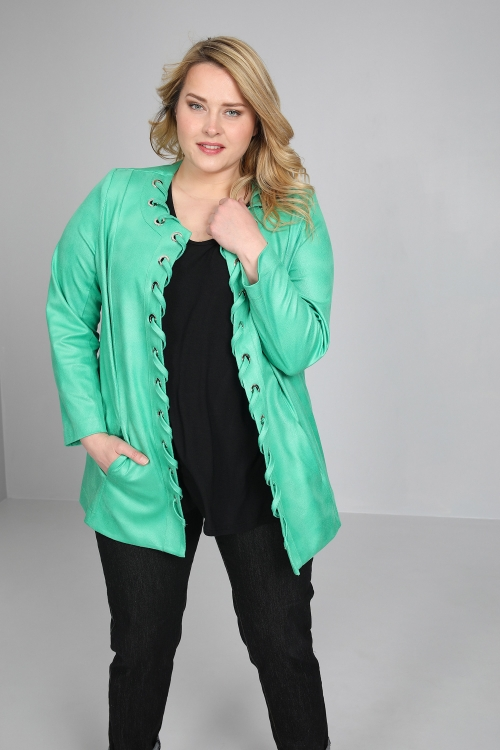 Faux leather jacket with twist