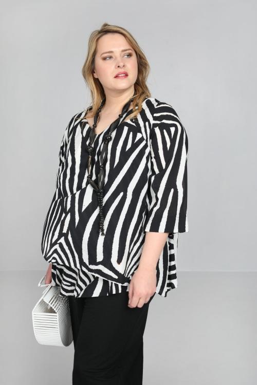 T shirt-Noir/blanc