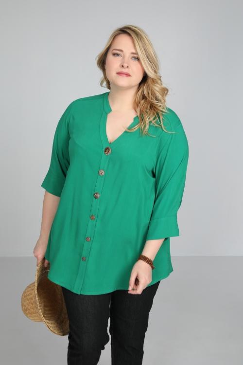 Button-down viscose shirt