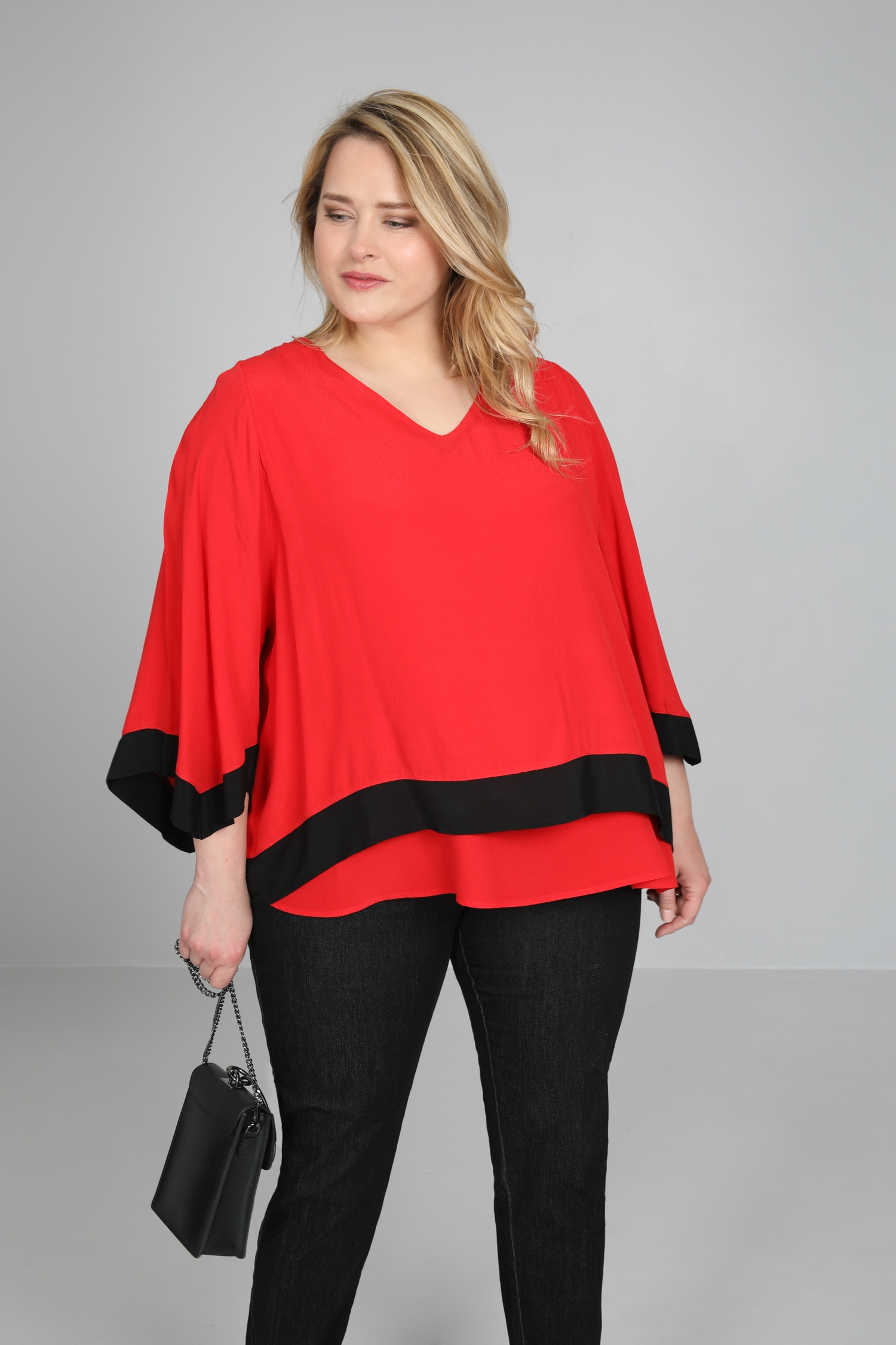 T shirt-Rouge/noir
