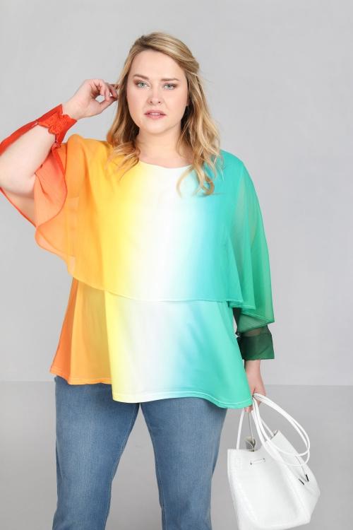 T shirt-Orange/vert