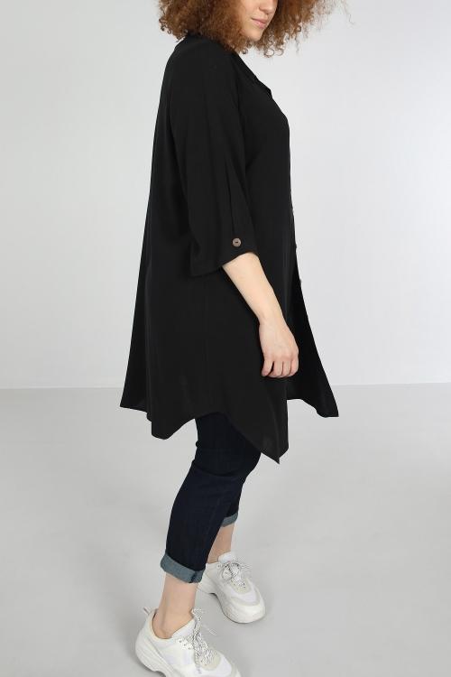 Long shirt touched linen
