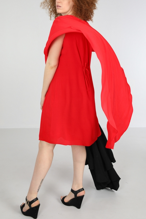 Cape effect dress