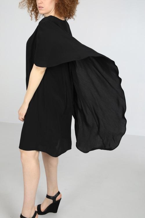 Cape effect dress